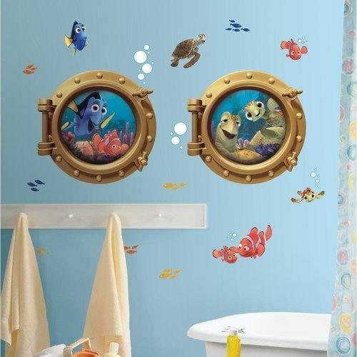 York Wallcoverings RMK2060GM RoomMates Finding Nemo Peel & Stick Giant Wall Deca, Multi - 1