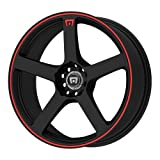 Motegi Racing MR116 Matte Black Finish Wheel with Red Accents (17x7