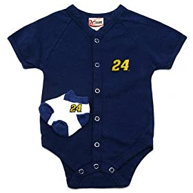 nascar baby clothes 24 Jeff Gordon Creeper Booties