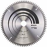 Bosch Zubehör 2608640437 Kreissägeblatt Optiline Wood 254 x 30 x 2,5 mm, 80