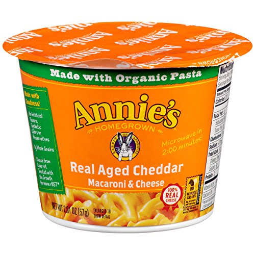 Annie's Real Aged Cheddar Microcup Macaroni & Cheese 2.01 oz.Cup (Pack of 12) (Mac And Cheese Annies compare prices)