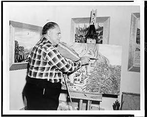 Photo: Galen Gough,creative artist,originator,3D primitive expressionism,Cliff,1958