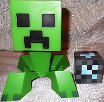 Licensed Collectible Minecraft Creeper Vinyl Toy W Diamond Block