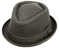 EHA5033FM - Unisex Structured Wool Fedora Winter Hat ( 3 Colors ) - Charcoal/S/M