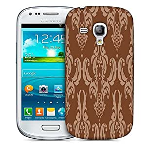 Snoogg Brown Pattern Layer Designer Protective Phone Back Case Cover For Samsung Galaxy S3 Mini