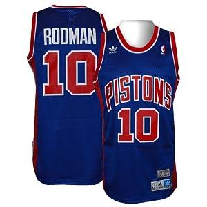 Detroit Pistons #10 Dennis Rodman NBA Soul Swingman Jersey, Blue by adidas