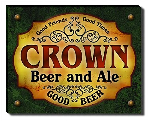 crown-beer-ale-stretched-canvas-print