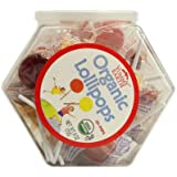 Organic Lollipops Assorted Bin, 25 Count, 6 Ounce