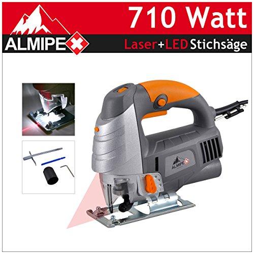 Profi-710-W-Pendelhub-Stichsge-Laser-LED-Licht-Pendelhubsge-Zubehr-Neu
