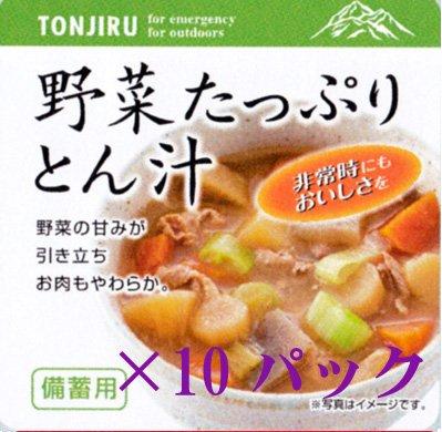 東和食彩 備蓄用 野菜たっぷり豚汁 10パックセット 3月製造