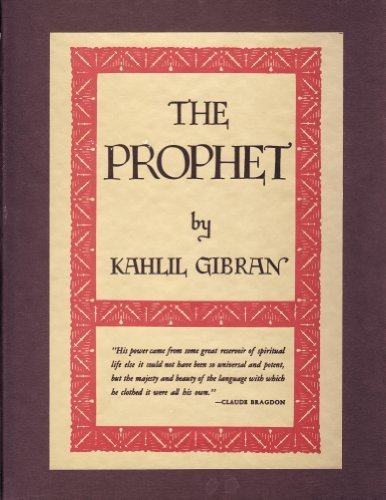 THE PROPHET (Gibran's Masterpiece) - Collector Edition in Slipcase