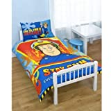 FIREMAN SAM KIDS BOYS JUNIOR TODDLER COT BED DUVET QUILT COVER BEDDING SET NEW