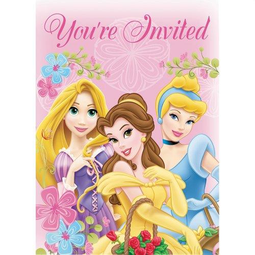 Disney Princess Disney Princess Party Invitations, 8 Count
