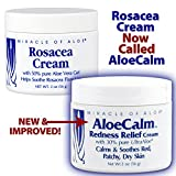 Miracle of Aloe's AloeCalm Cream. Fast help for rosacea and eczema! Gently cools and soothes hot, inflamed, itchy skin
