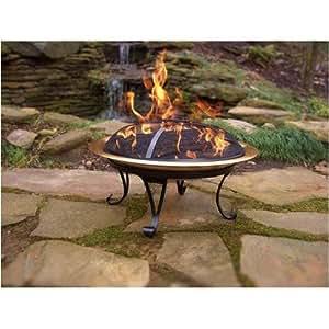 Copper folding fire pit garden outdoors for Amazon prime fire pit