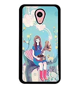 Printvisa Fairy On A Tree With A Gramophone Back Case Cover for Meizu m1 note
