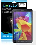 Ionic 2014 Samsung Galaxy Tab 4 7.0 7-Inch Screen Protector Film Clear (Invisible) (3-pack)[Lifetime Replacement Warranty]