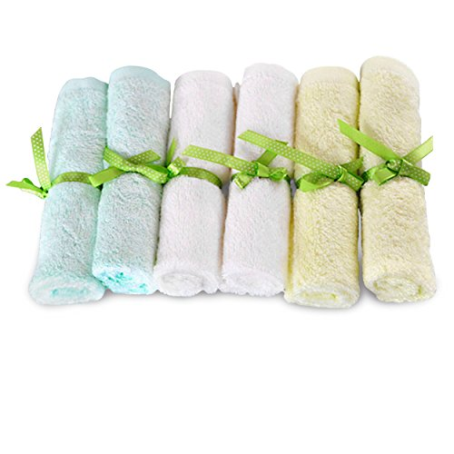 Brooklyn Bamboo Baby Washcloth Wipes 6 Pk Organic, SOFT, Large 10