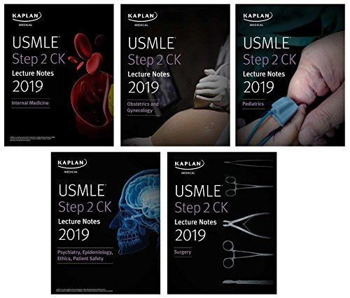 USMLE Step 2 CK Lecture Notes 2019 5-book set (Kaplan Test Prep) [Kaplan Medical] (Tapa Blanda)