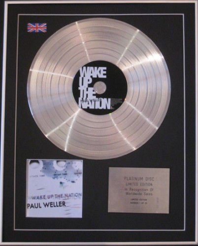 PAUL WELLER-Ltd Edtn CD PlatinumDisc-WAKE UP THE NATION