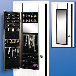 Amazon.com - Over the Door, Wall Mounted Hanging Jewelry ...