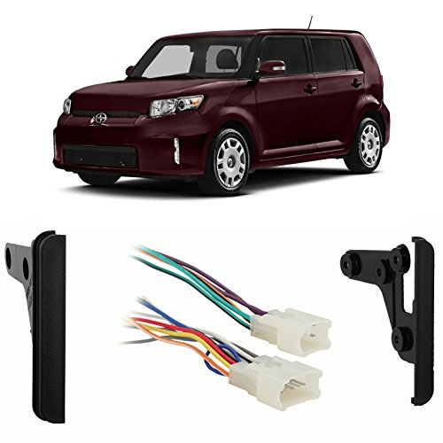 Fits Scion xB 2004-2014 Double DIN Aftermarket Harness Radio Install Dash Kit (Scion Xb Harness compare prices)