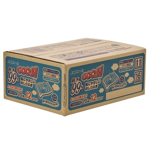 グーン 肌にやさしいおしりふき 詰替用 70枚×12パック