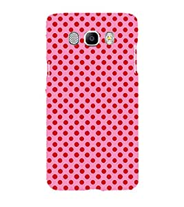 Printvisa Pink And Red Polka Dot Patterns Back Case Cover for Samsung Galaxy J7 (2016)::Samsung J710F