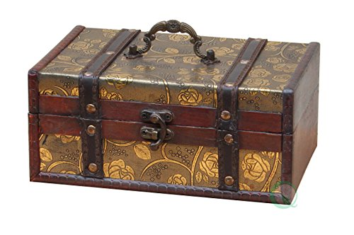 Vintiquewise(TM) Decorative Storage Box, 9 by 6 by 4-Inch