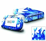 Nintendo Wii U Console and GamePad Decal skin Sticker – Blue Flame