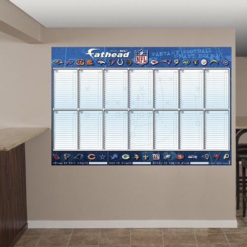 Fathead Nfl Dry-Erase Fantasy Draft Board
