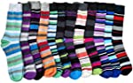 12 Pairs of excell Mens Striped Color...