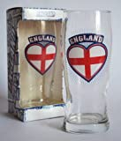 ENGLAND - PATRIOTIC THEME BEER GLASS - 1 PINT - COLLECTIBLE - IDEAL GIFT