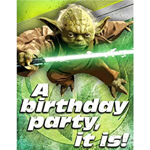 Star wars einladungskarten 8 stk yoda a birthday party it for Amazon einladungskarten