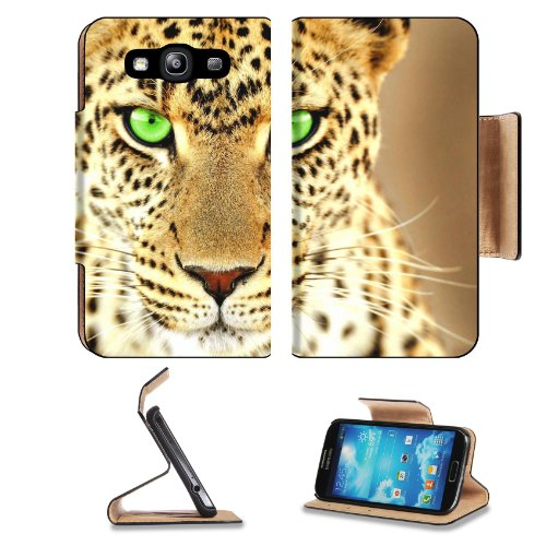 Lepord Spots Tail Whiskers Wild Samsung Galaxy S3 I9300 Flip Cover Case With Card Holder Customized Made To Order Support Ready Premium Deluxe Pu Leather 5 Inch (132Mm) X 2 11/16 Inch (68Mm) X 9/16 Inch (14Mm) Liil S Iii S 3 Professional Cases Accessories