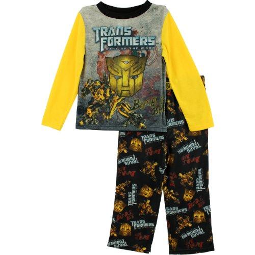 Sgi Apparel Group Little Boys' Bumble Bee Pajama Set, Grey/Black/Yellow, 6/7