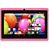 """DeerBrook® DB+ 7"""" Quad Core Tablet 8GB- HD 1024x600 Display, Bluetooth, Dual Camera, Google Android 4.4 KitKat, WiFi, Google Play Pre-installed, 3D Gaming Support (Pretty Pink)"""