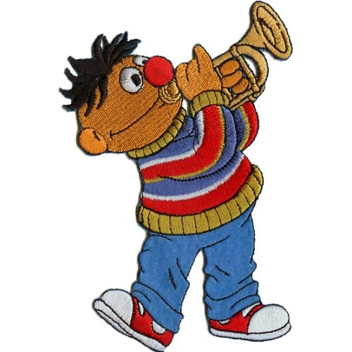 "Amazon.com: Sesame Street Cartoon Patch - 5.25"" Ernie With Trumpet"