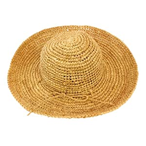 No Shoes, No Shirt, No Problem! Floppy Straw Hat (Tan)