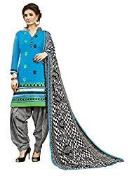 Women Icon Presents Light Blue Embroidered Un-Stitched Dress Material WICKFRPCO15005
