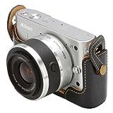 HAKUBA 本革 ボディ ケース Nikon 1 J1 専用 BKDBC-N1J1BK