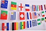 IsPerfect 82 Feet 8.2'' x 5.5'' International String Flags Banners,100 Countries Flags World Flags Pennant Banner for Olympics,Grand Opening,Sports Clubs,Party Events Decorations