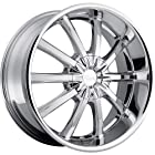 Pacer Blitz 20x9 Chrome Wheel / Rim 5x115 & 5x5.5 with a 15mm Offset and a 83.82 Hub Bore. Partnumber 782C-2901715