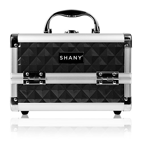 SHANY Cosmetics Black Makeup Train Case with Mirror, 48 Ounc