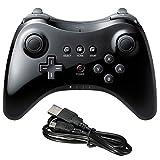 Welbeck Spiel-Fernbedienung Wireless-Pro Controller Gamepad Joystick für Nintendo Wii U - Schwarz