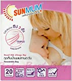 Sun mum triple zipper breast milk storage bag resealable 20 bags