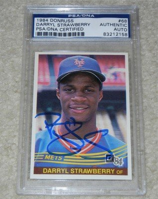Darryl Strawberry Auto Signed 1984 Donruss Rookie Card Psadna