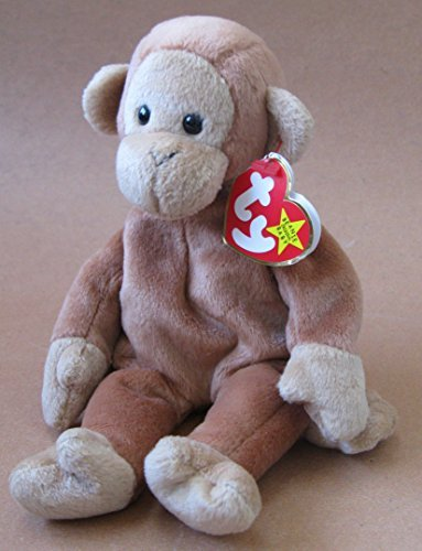 TY Beanie Babies Bongo the Monkey Plush Toy Stuffed Animal - 1