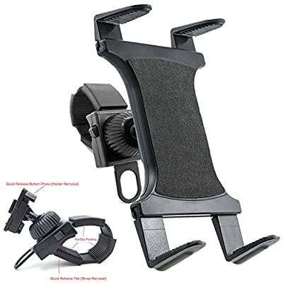 ChargerCity StrapLock Universal Bicycle Treadmill, Elliptical Exercise Bike Mount Holder for Apple iPad Pro, iPad Air, iPad Mini, Galaxy Tab & all 7-12 inch screen size Tablets *Fits Otterbox case