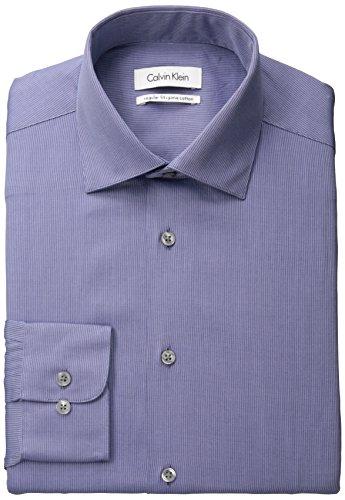 Calvin Klein Regular Fit Textured Solid男士 100% Pima棉 休闲衬衫